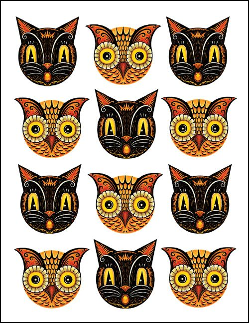 Martha Stewart Halloween Templates 2011 | After Martha Stewart's owl and cat masks I have another owl and cat ...