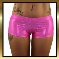 Hot pink sparkle stretch lycra workout shorts with and elasticated waistband. #poledancingshorts #poledancingclothes #juiceepeachwear #danceshorts #poledancing #poledancingshorts