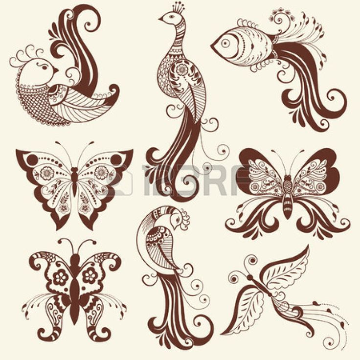 26567028-vector-abstract-floral-elements-in-indian-mehndi-style
