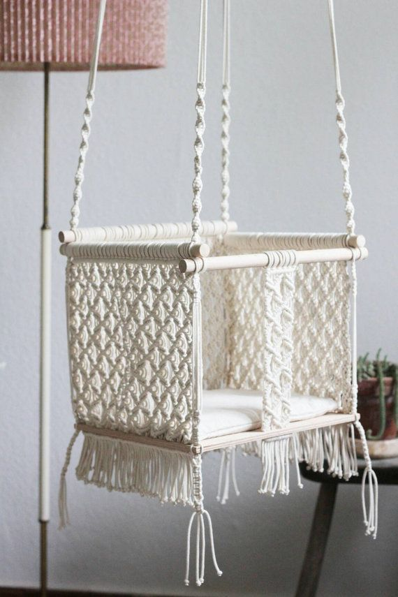 25 best ideas about baby swings on pinterest outdoor for Diy macrame baby swing