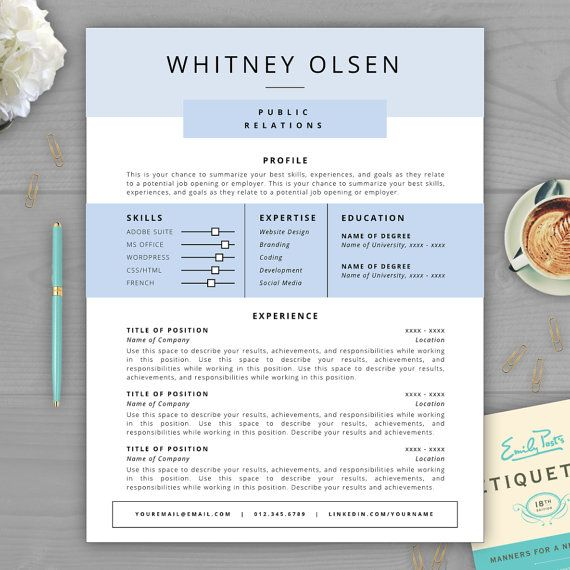Make Your Résumé Stand Out With A Beautiful And Professional Résumé  Template From The Résumé Template  How To Make Your Resume