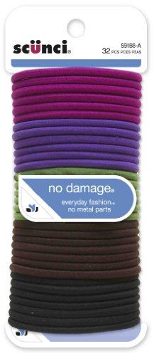 Scunci Effortless Beauty Large No-damage Berry Elastics, 32-Count: No Damaged Berries, 32 Counting, Scunci Effortless, Effortless Beautiful, Beautiful Large, Beauty, Berries Elastic, Berries Colors, Large No Damaged