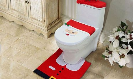 Save on Three-Piece Christmas Toilet Seat Cover Set  Three-Piece Christmas Toilet Seat Cover Set   >> BUY & SAVE Now!