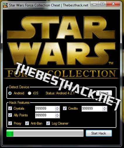 Star Wars Force Collection Hack Cheat [Crystals/Ally Points/Credits]