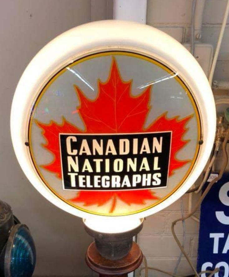 Original Canadian National Telegraphs Advertising Globe