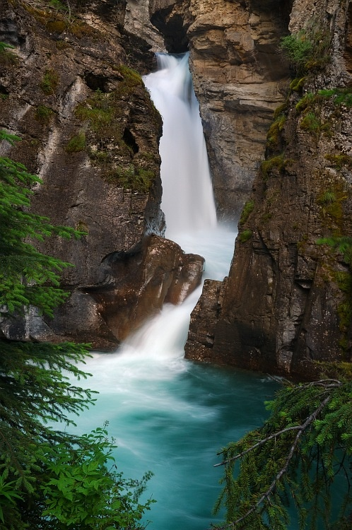 Johnston's Canyon near Canmore and Banff Alberta.  Awesome in summer and winter.