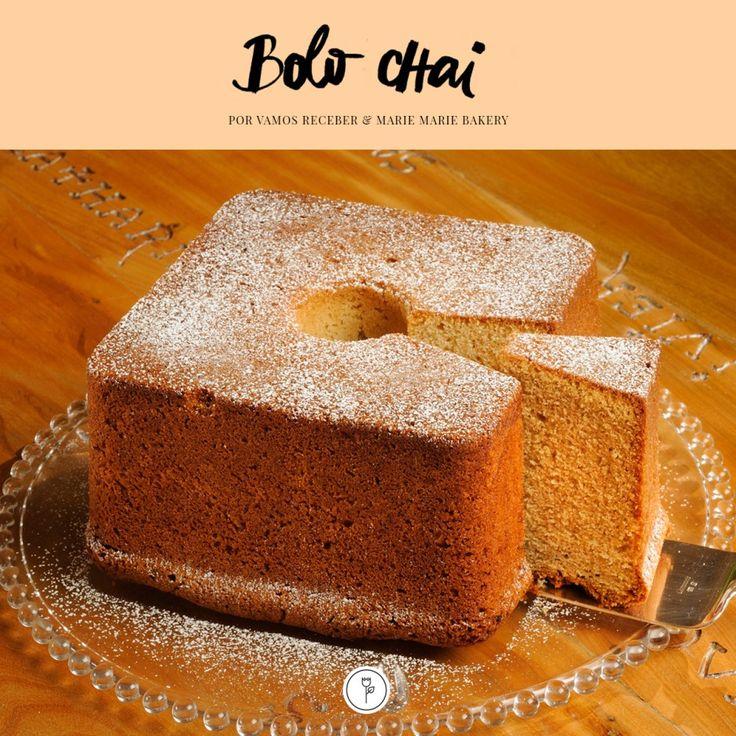 Receita deliciosa de Bolo Chai! Cada garfada, um prazer a ser descoberto! Perfeito para o café da manhã, ou para acompanhar um chá da tarde e também como sobremesa!