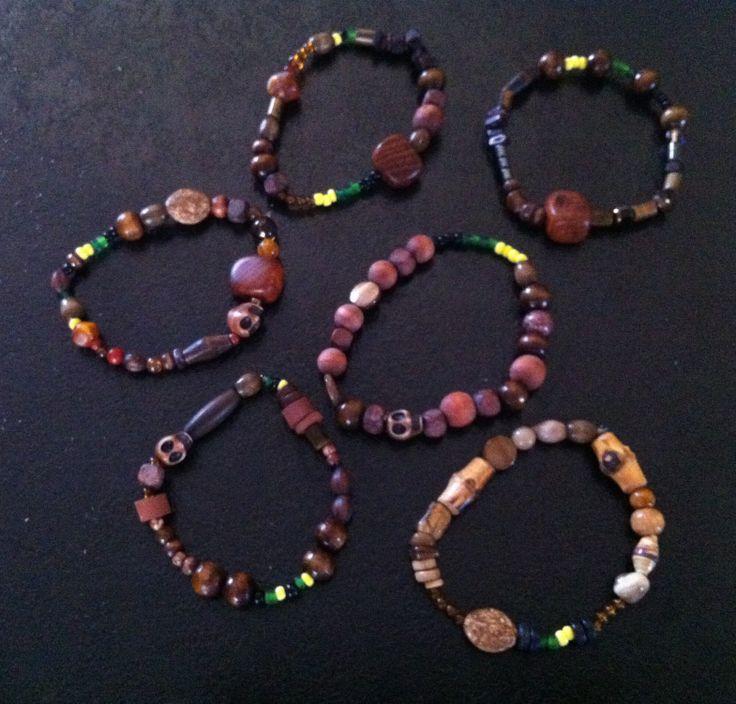 Six guys bracelets for trip to Jamaica
