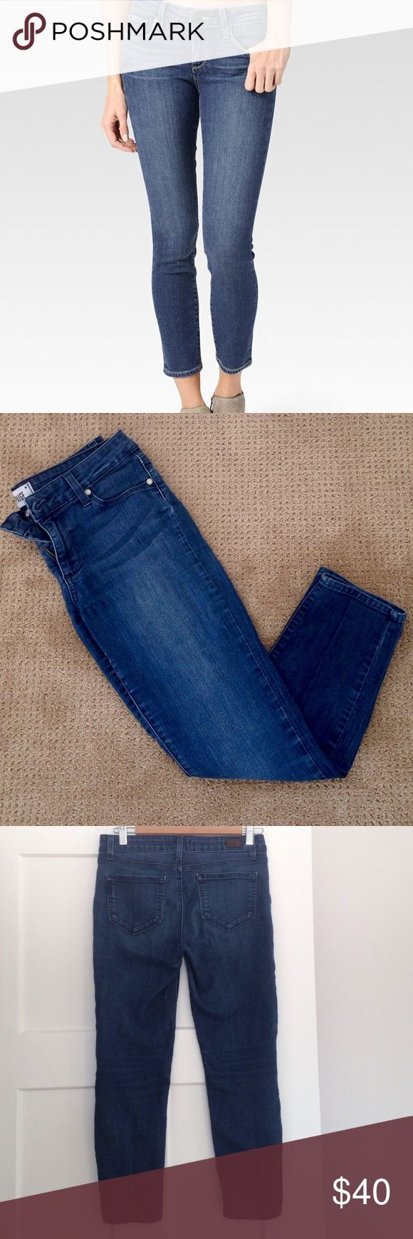Paige Premium Denim Kylie Crop jeans, size 28 These Kylie Crop skinny jeans from Paige Premium Denim are in excellent used condition with no visible flaws. Super soft, stretchy and comfortable, with a flattering cut. Medium vintage wash, size 28. Sold out on the Paige Denim website. Made in the USA. 🇺🇸 Paige Jeans Jeans Skinny