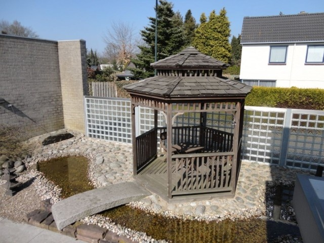 Prieel met dubbeldaksysteem overkapping prieel pinterest met - Prieel tuin ...