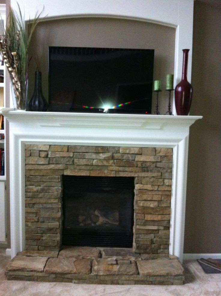 Stacked Stone Fireplace! Love It!
