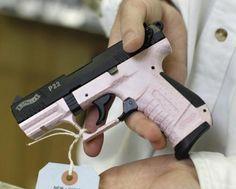 pink hand guns for women   pink-colored handgun
