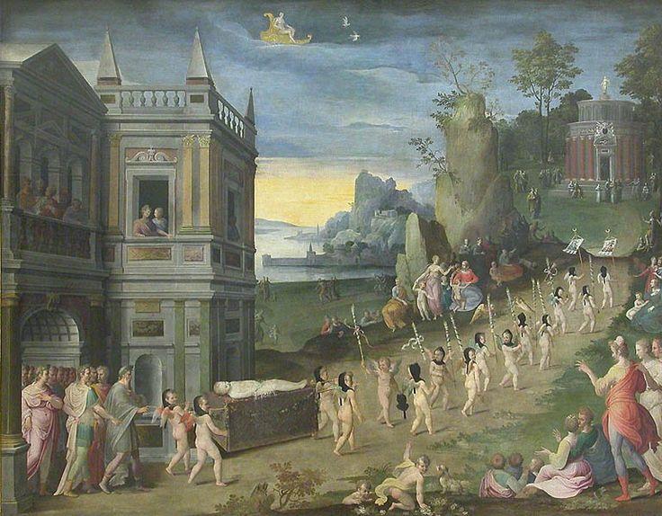 Antoine Caron (1521–1599) Похороны любви Les funérailles de l'Amour