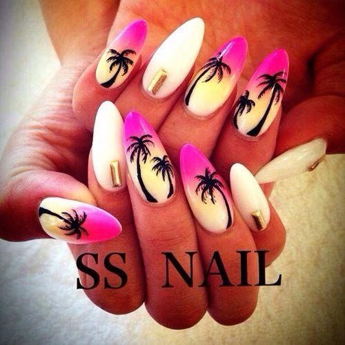 Palm Tree Nails ❤️❤️