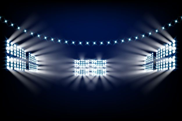 Download Realistic Bright Stadium Lights For Free Stadium Lighting Vector Free Lights