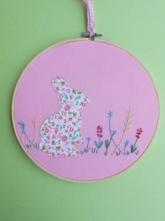 nursery embroidery hoop art nursery wall art by CottonCraftArt