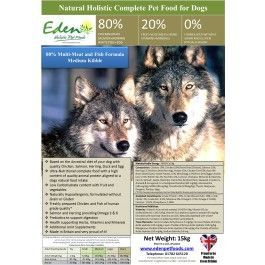 Eden Dog Food - a holistic formula that is consistently rated tops on the UK's No 1. independent website dedicated to helping us find the right food for our own dogs.
