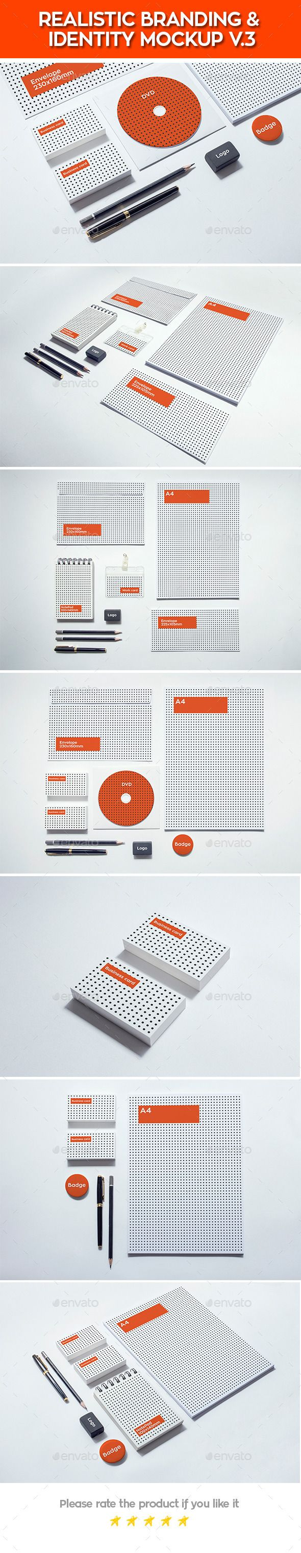 Realistic Branding & Identity Design Mockups V3 (Stationery) - Stunning Resources for designers - OrTheme
