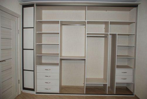 """наполнение встроенные шкафы купе в спальню фото » Фото журнал для дома """"Дизайн и…"""