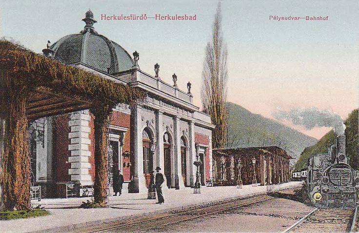 Băile Herculane - Gara - în anul 1912