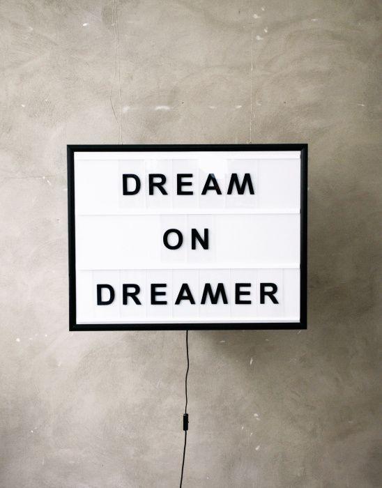 dream on dreamer   #wordstoliveby