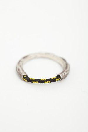 Miansai // half rope ringHalf Ropes, Half Rops Rings, Black Half Rops, Miansai Half, Sterling Silver Rings, Rings Sterling Silver, Black Ropes, Logo Pattern, Batman Logo