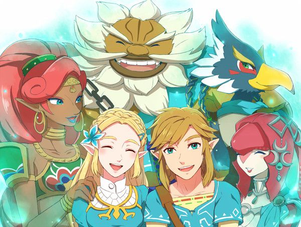 All the Champions from Breath of The Wild