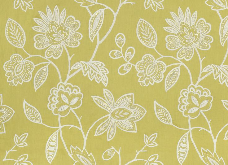 Brunello embroidery fabric in citron available