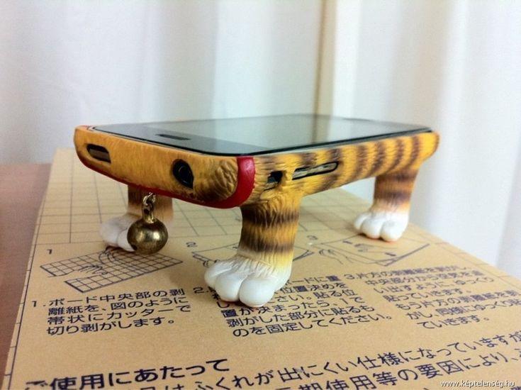 Funda para celular patas de gato