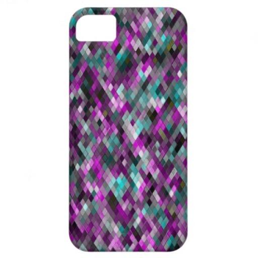 Harlequin _Mint_301a - by Greta Thorsdottir - iPhone 5 case from Zazzle