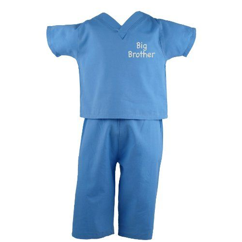 Scoots Toddler Scrubs - new big brother gift idea. The outfit is too cute and is perfect to wear to the hospital when baby arrives. #new #big #brother #gift #ideas #boy #scrubs