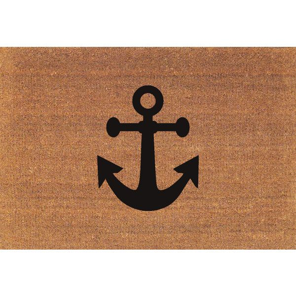 Ship Boat Anchor Nautical Door Mat Coir Doormat Rug 24 X 35 Welcome... ($38) ❤ liked on Polyvore featuring home, rugs, brown, floor & rugs, home & living, nautical door mats, coconut fiber doormat, nautical mat, coir doormat and nautical rugs