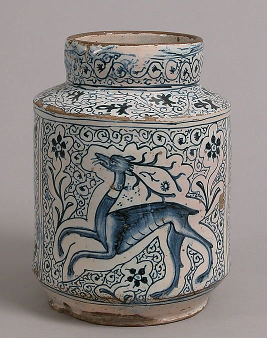Pharmacy Jar, early 15th century, Florence