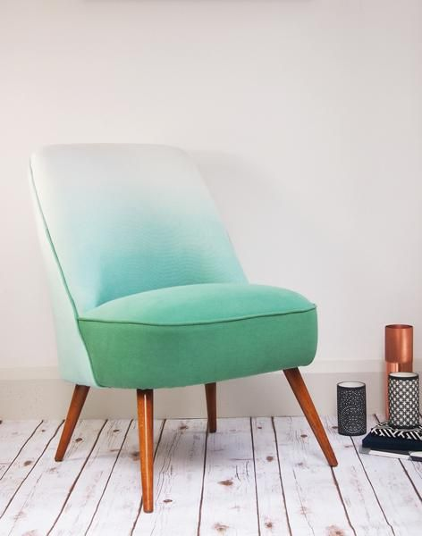Stunning unique #vintage and midcentury furniture at Layer, like this beautiful recovered jade green mid century cocktail chair.
