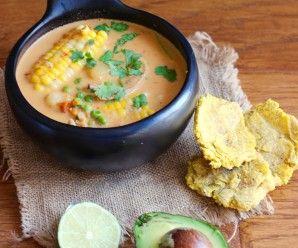 Cazuela de Pollo y Coco (Chicken and Coconut Soup) |mycolombianrecipes.com