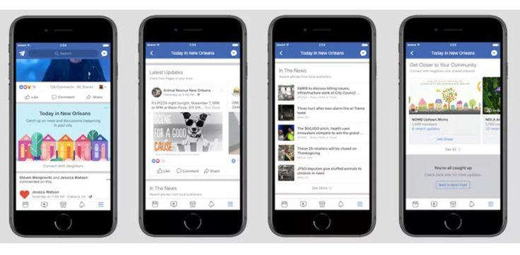 Facebook prueba una sección con noticias y eventos locales