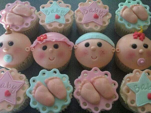 Baby Face Cupcakes Cupcake Pinterest Babies Cupcake