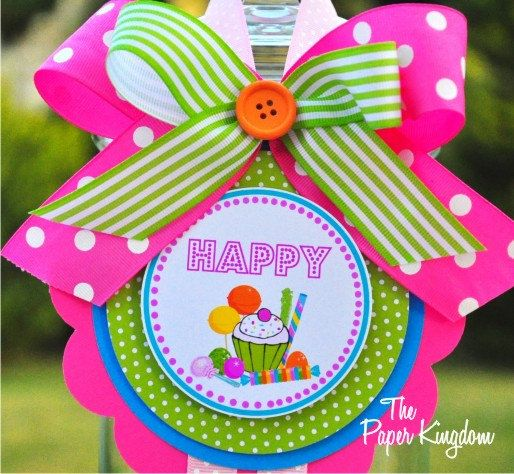 Vertical Door Hanger Candyland Welcome Door by thepaperkingdom, $15.00