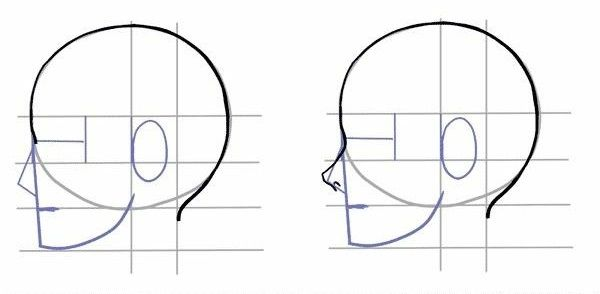 2 Tutorial Bergambar Cara Menggambar Wajah Bagian Samping Atau Tampak Samping Menggambar Wajah Cara Menggambar Sketsa Wajah