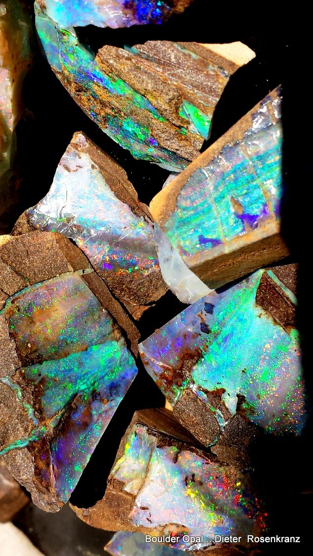 Boulder Opal ready to be cut into Gemstones