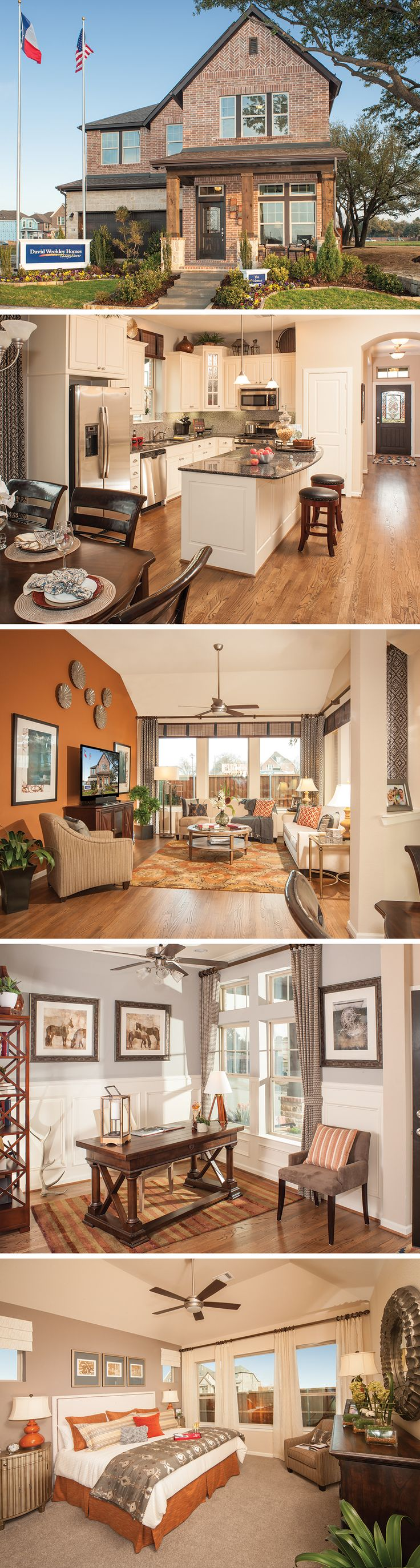 The Holoman in Dallas, Texas is a stunning 3-4 bedroom home with a spacious kitchen and must-have media room!