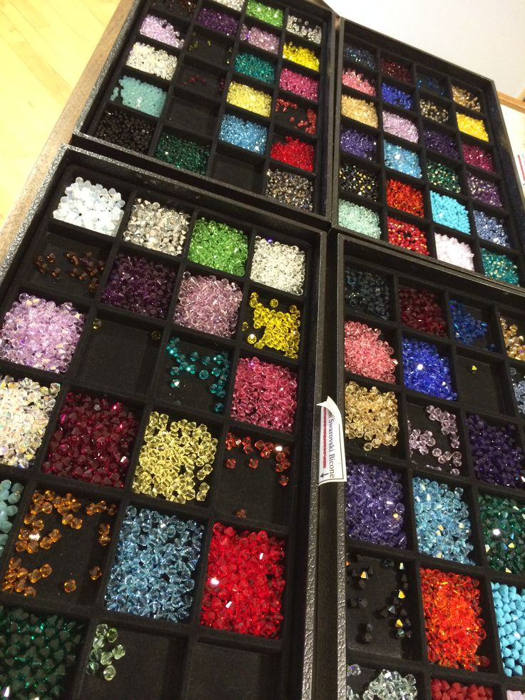 I love when we fill the trays of Swarovski!  www.thebead.co.uk
