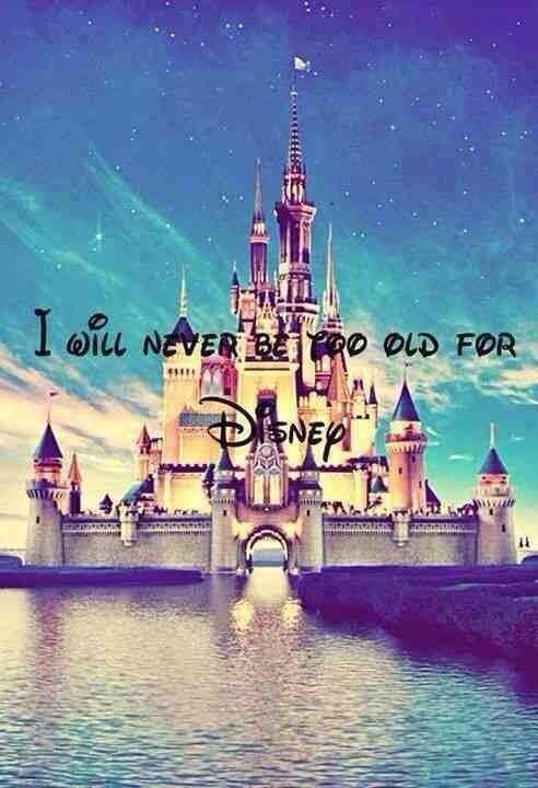 Never be too old for Disney