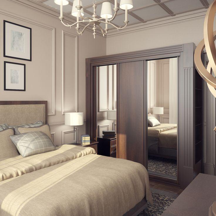 Классическая спальня on Behance