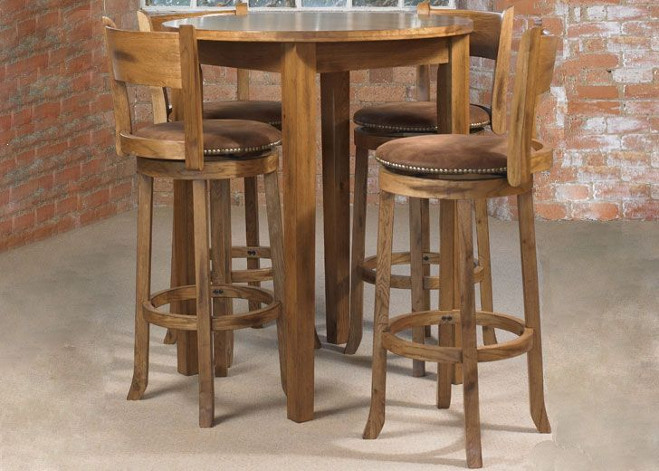cordoba round bar table and four cordoba bar stools