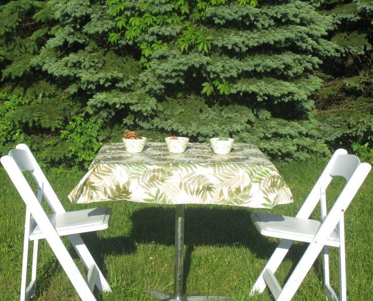 Elegant Fern Vinyl Tablecloth