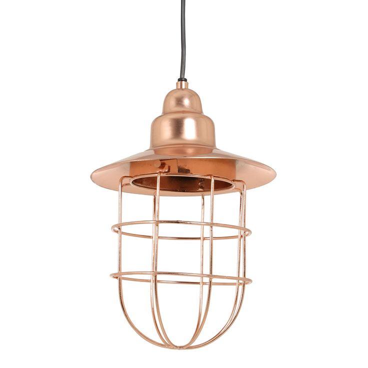 Schitterend is deze hanglamp Fenne rosé goud van het merk Light&Living. De lamp is geïnspireerd op de scheepslampen van vroeger, maar dan in een nieuw jasje! Deze gave draadjeslamp heeft een mooie rosé gouden kleur en is gemaakt van metaal. Hanglamp Fenne heeft een mooie open structuur waardoor de lamp extra goed zicht baar is. De mooie draadlamp Fenne heeft een diameter van 21cm en een hoogte van 30cm. Tip: Leuk om verschillende rosé gouden lampen samen op te hangen.