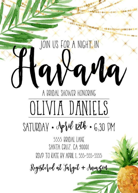 havana nights invitation cuban party cuba miami tropical havana