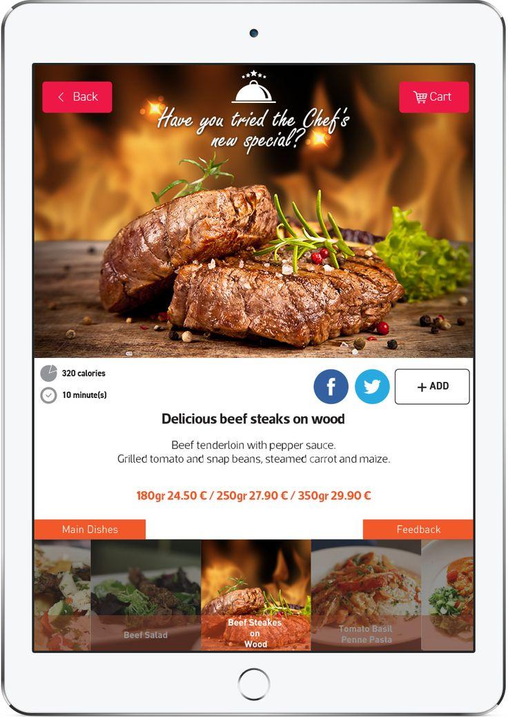 Promote your Chef's special on your FineDine Tablet menu   #menu #tabletmenu #restaurantmenu #restaurant #digitalmenu