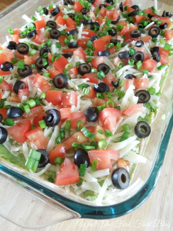 7 Layer Taco Dip - Creamy, cheesy, fresh and delicious!